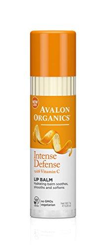 Lip Balm Mouth (Avalon Organics Intense Defense Lip Balm, 0.25 Ounce)