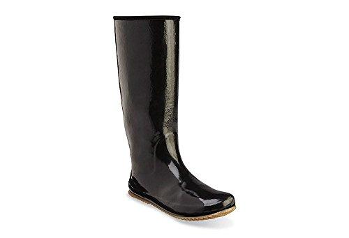 Chooka Women's Packable Rain Boot, Black, 8 M US