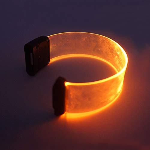 Rave Glow LED Light Up Flashing Bracelets Wristbands (Multiple)