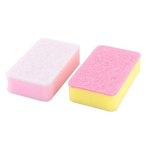 Amazon.com: 2pcs eDealMax esponja de cocina Rectangular Plato Plato Pan Pot limpieza del depurador Pad: Health & Personal Care