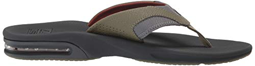 Reef Men's Fanning Sandal, Olive/Rust, 150 M US by Reef (Image #7)