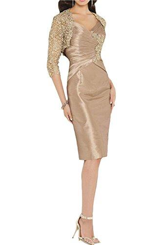 Abschlussballkleider Brautmutterkleider Etuikleider Festlichkleider Knielang Jaket mit Gruen mia Braut Champagner Abendkleider La HwTq7Zcx