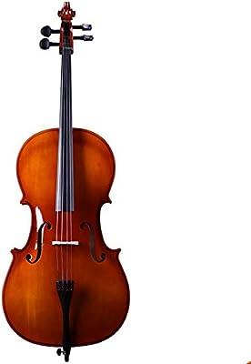 Miiliedy Hecho a mano Fresco Natural Violonchelo Principiantes Niños Adultos Principiantes Practica tamaño completo 1/8 1/4 1/2 3/4 4/4 con estuche Arco Resina Cuerdas adicionales Soporte para violonc: Amazon.es: Instrumentos musicales