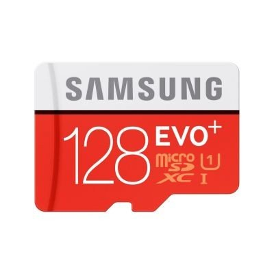 Samsung 128GB EVO Plus UHS-i Class 10 Micro SDXC Card with Adapter up to 80MB/s (MB-MC128D)