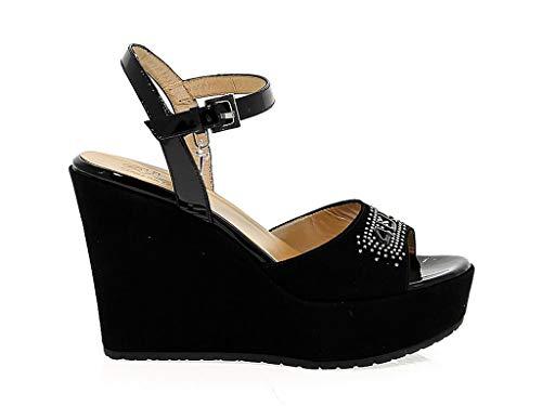 Paciotti Gamuza De 4us Negro 4ussd30 Cuña Cesare Mujer Zapatos F0nTOn5W