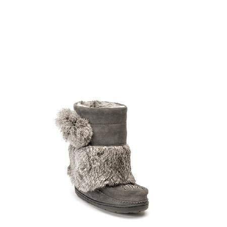 Manitobah Kids Snowy Owlet Mukluk Grey (2M, ()