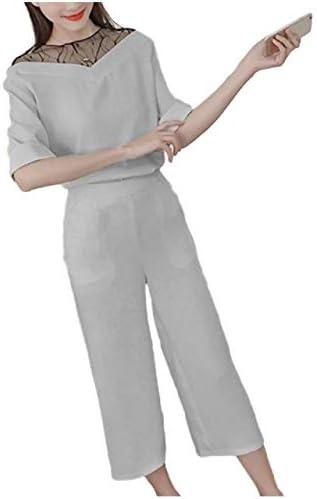 앙리 설치 분할 상판 팬츠 사무실 하이 넥 캐주얼 레이스 예쁜 외 M  XL 레이디스 / Henri Setup Separate Tops Pants Office High Neck Casual Lace Beautiful M XL Ladies