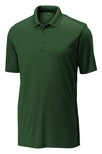 Opna Mens Dry-Fit Golf Polo Shirts,Forest,3X-Large