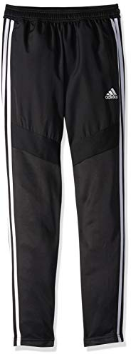 adidas Youth Tiro19 Youth Warm-up Pants, Black/White, Small (Adidas Track Pants For Boys)