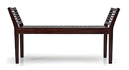 Urban Ladder Latt Sheesham Wood Bench (Mahogany)