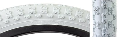White Bike Tires - Sunlite MX3 BMX Tires, 12.5