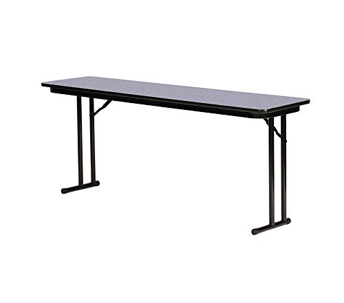 Wood & Style Office Home Furniture Premium High Pressure Laminate Folding Seminar Table with Off-Set Leg for Maximum Leg Room, 18 x 60, Gray Granite - Offset Leg Folding Seminar Table
