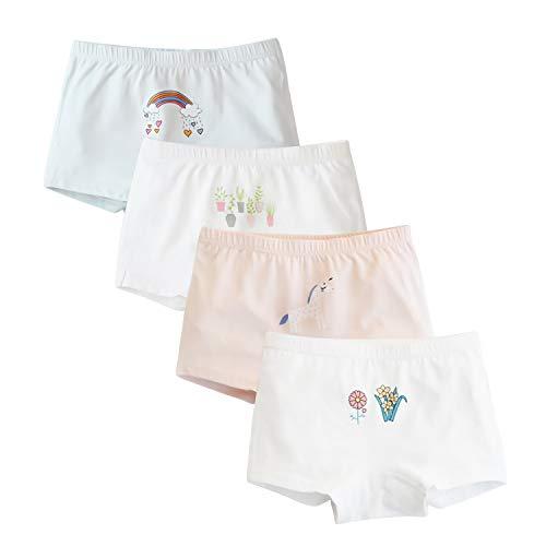Girls' Heart Panties Rainbow Boyshort Plants Panty (Pack of 3) Colors May ()