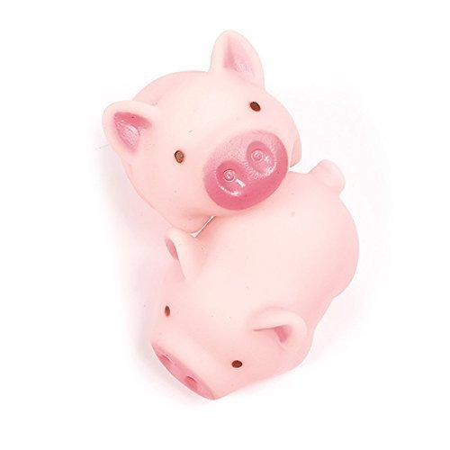 LHKJ 10 Pcs Mini Cerdos de Goma de ba/ño para ni/ños beb/é
