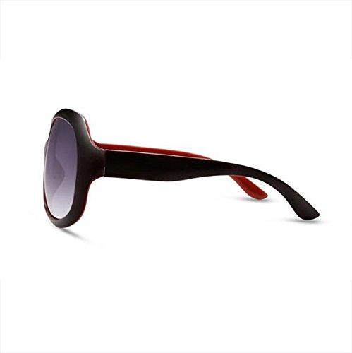 sol caja gafas sol conducción UV luz de polarizada decoración femenina jugar Color Vino rojo Purple fuera de antideslumbrante WLHW retro Gafas 16YaIx