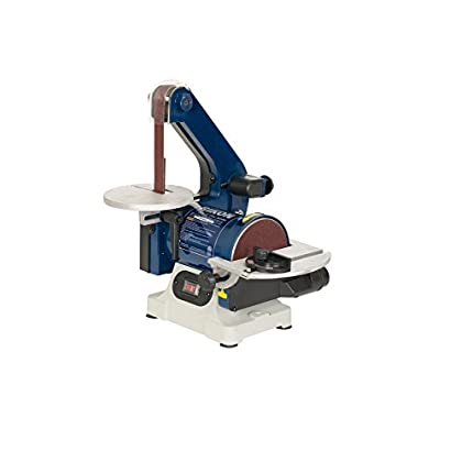 Image of Combination Disc & Belt Sanders RIKON Power Tools 50-151 Belt with 5' Disc Sander, 1' x 30', Blue
