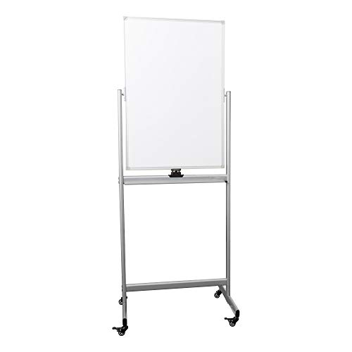 (Learniture Double-Sided Mobile Magnetic Markerboard, 3' W x 2' H, White, LNT-RCE-3049-PK-SO)