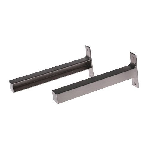 Ikea EKBY BJARNUM 7 1/2 '' brackets, Shelf holder, aluminum, set of 2 by EKBY BJARNUM