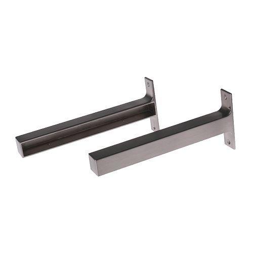 Ikea EKBY BJARNUM 7 1/2 '' brackets, Shelf holder, aluminum, set of 2
