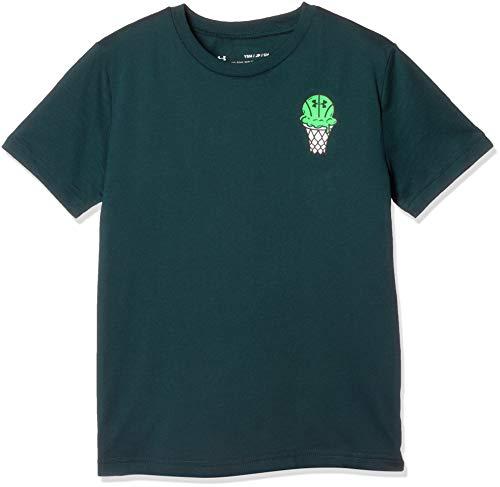 Under Armour Summer Vibes Short Sleeve, Batik//Zap Green, Youth Medium