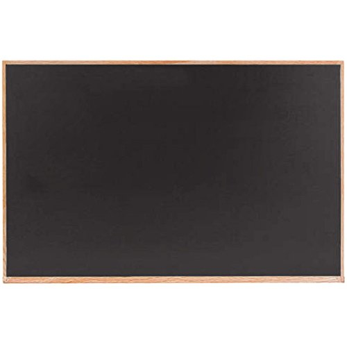 TableTop King OC3648B 36'' x 48'' Black Solid Oak Wood Frame Slate Composition Chalkboard