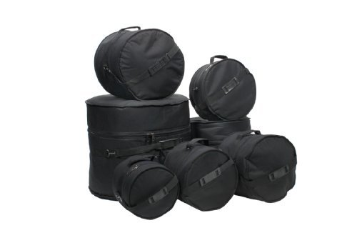 2. XSPRO 7 Piece Deluxe Padded Drum Bag