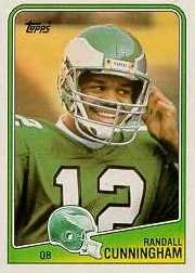 1988 Topps Toys (1988 Topps Randall Cunningham Football Card #234 - Shipped In Protective Display Case!)