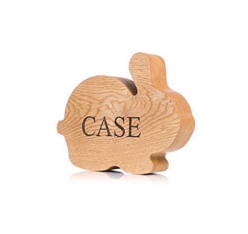 Bunny piggy bank wood RABBIT BIG Coin bank personalized gifts Wooden money box frame Easter toy for boys and girls Baby shower gift idea Tip jar