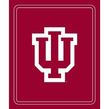 Indiana Hoosiers Classic Logo Fleece Throw Blanket (Indiana Hoosiers Fleece Throw)
