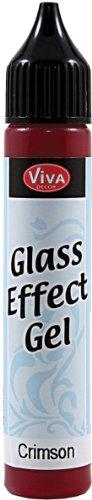 Viva Decor 25ml Glass Effect Gel, Crimson