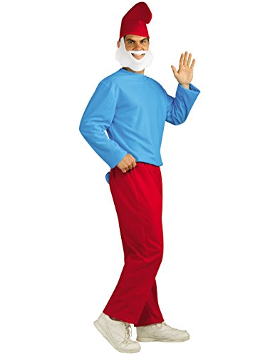 Rubie's Men's Papa Smurf Adult Costume, Smurfs: the Lost Village, (Adult Smurf)