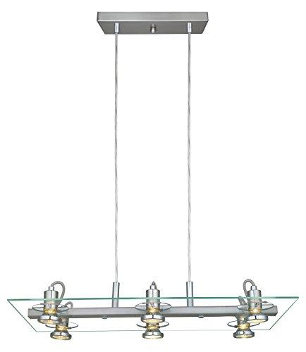 Matte Nickel Finish Pendant - 4