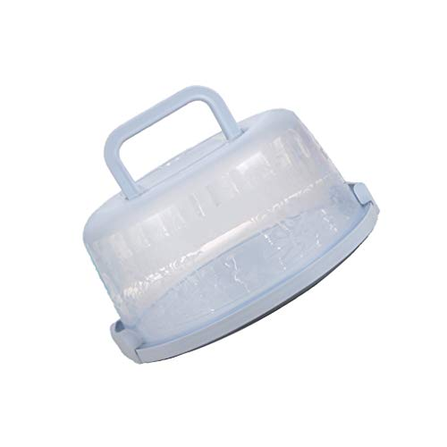 Zerama Plastic Round Cake Box Carrier Handle Pastry Storage Holder Dessert Container Cover Case Cake Accessories