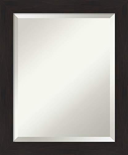 Framed Vanity Mirror | Bathroom Mirrors for Wall | Furniture Espresso Narrow -