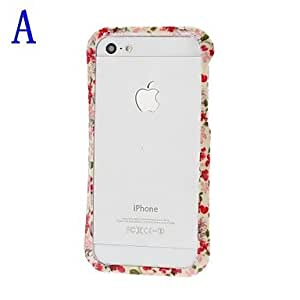 Fresh Florals Small Waistline Pattern Bumper Frame for iPhone 5/5S , A