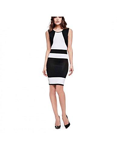 schwarz weiß Mehrfarbig Kleid Damen Guess qR8xIwA0y