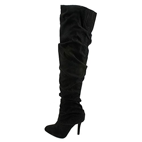 Toe True Over Fashion Boots Black Nina Womens Pointed Knee Kandi qwWZtHA