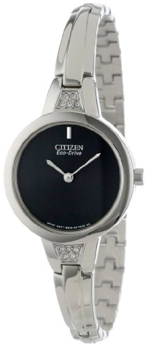 Citizen Women's EX1150-52E Silhouette Crystal Bangle Eco-Drive Stainless Steel Watch