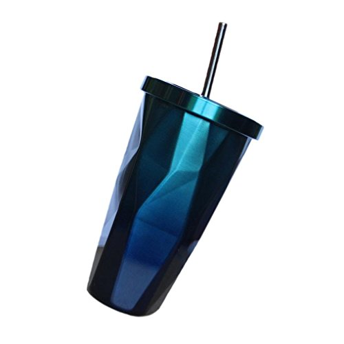YJYDADA Insulated Travel Coffee Thermal Cup 500ml Double Wall Vacuum Drinking Metal (A) by YJYDADA