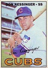1967 Topps Regular (Baseball) Card# 419 don kessinger of the Chicago Cubs Ex Condition ()