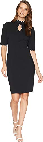 - Gabby Skye Women's Keyhole Knit Dress Black 10
