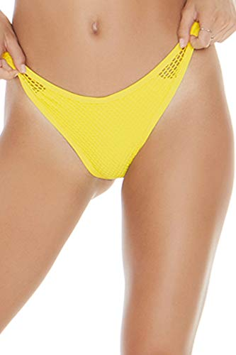 LSpace Women's Mesh Madness Stevie Bottoms Canary Yellow Medium ()