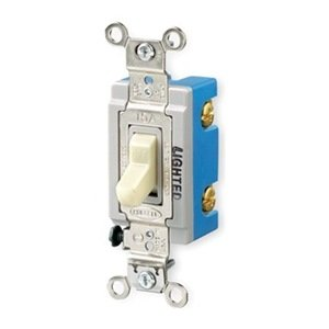 HUBBELL WIRING DEVICE-KELLEMS Illuminated Wall Switch ... on wiring a power switch, wiring a toggle switch, wiring a switch up, basic wiring light switch, wiring a illuminated rocker switch, home wiring light switch,