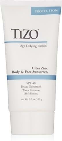 TIZO Ultra Zinc Body & Face Sunscreen Non-Tinted SPF 40 Broad Spectrum, 3.6 oz.