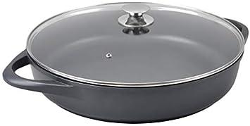 WeCook 10140 Cazuela de Cocina Inducción Profesional Grande, Tapa de Cristal, Cacerola Antiadherente,