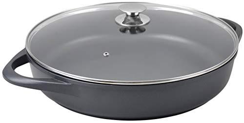 WeCook 10140 Cazuela de Cocina Inducción Profesional Grande, Tapa de Cristal, Cacerola Antiadherente, Libre de BPA, 40 cm, Aluminio Forjado