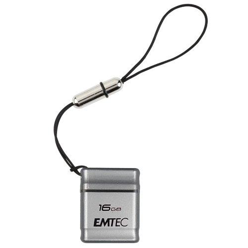 EMTEC S100 Micro Series 16 GB USB 2.0 Flash Drive, Silver