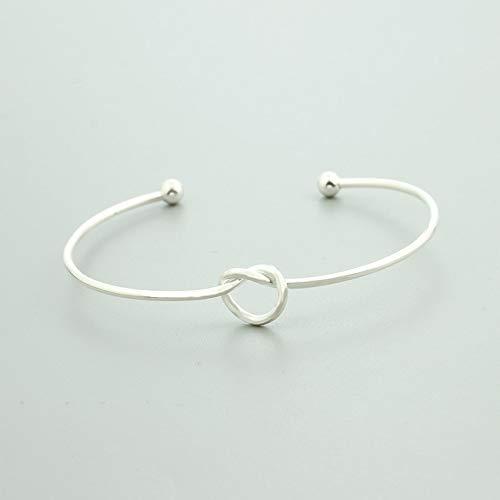 Tequila DS Bracelets /& Bangles New Cute Tie Knot Bangles Open Metal Charm Heart Bangle /& Bracelet for Women Girl Gift