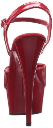 Pleaser DELIGHT-609 8441 - Sandalias de vestir para mujer Rojo (Rojo (Red Pat/Red))
