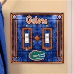 Florida Art Glass Lightswitch Cover (Double)